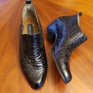 Giorgio Brutini faux ostrich heeled dress shoe
